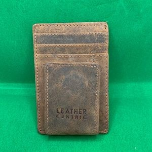 Leather Centric Minimalist wallet w/ magnetic clip